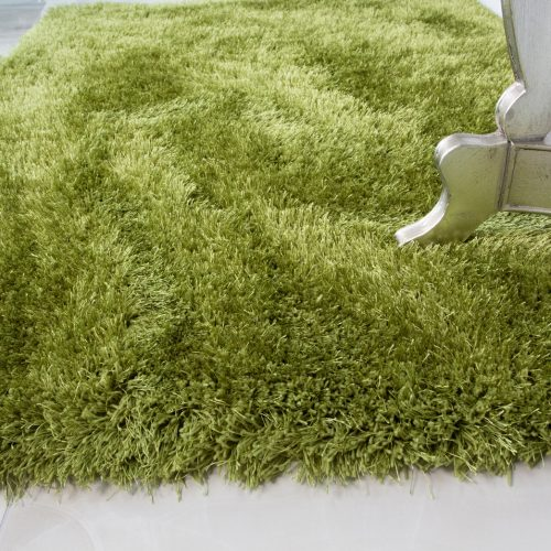 Modern Trendy Green Shaggy Rug