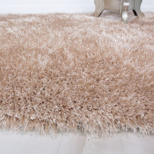 Modern Soft Natural Non Shed Shaggy Rug - Barrington