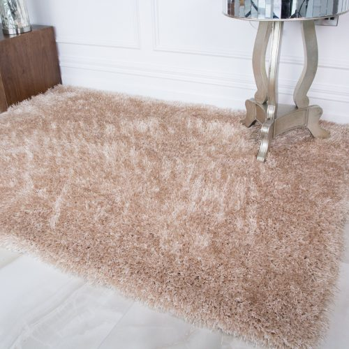 Modern Soft Natural Non Shed Shaggy Rug - Barrington