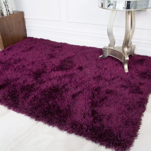 Modern Trendy Purple Shaggy Rug