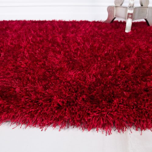 Thick Warm Red Soft Shaggy Rug - Barrington