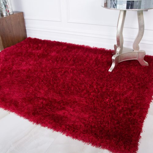 Thick Warm Red Soft Shaggy Rug - Barrington