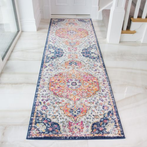 Halcyon Distressed Faded Persian Styled Multi Colour Runner
