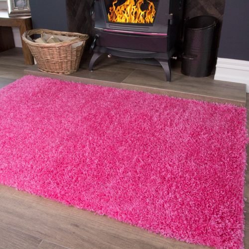 Vancouver Range - Barbie Pink Soft Shaggy Rug