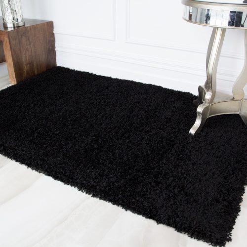 Dark Black Soft Shaggy Rug