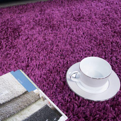 Plum Purple Shaggy Rug