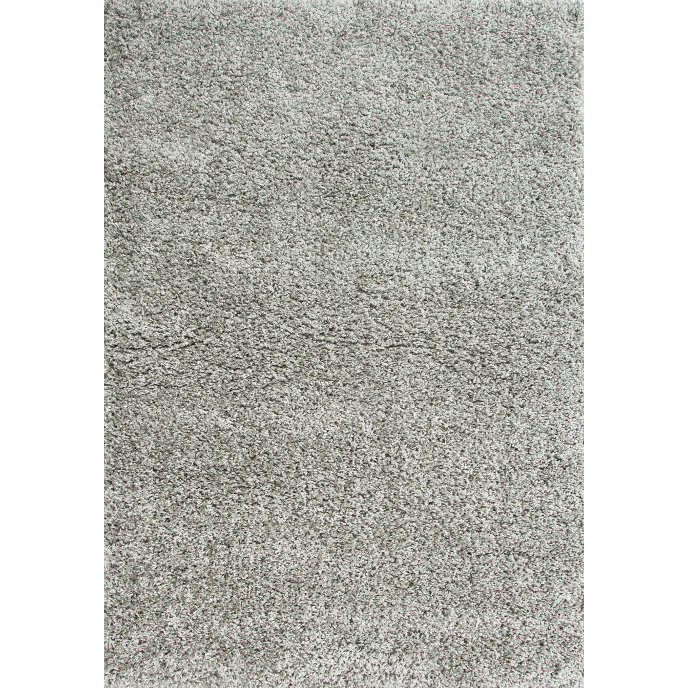 Soft Silver Grey Non Shed Shaggy Rug